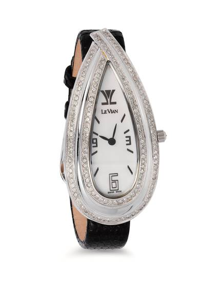 Stainless Steel Watch with Vanilla Diamonds® 1  5/8 cts. | ZAG 121
