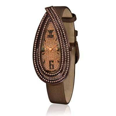 Stainless Steel Watch with Chocolate Diamonds® 3  1/4 cts. | ZAG 134