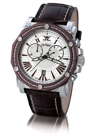Stainless Steel Watch with Chocolate Diamonds® 5/8 cts. | ZAG 151