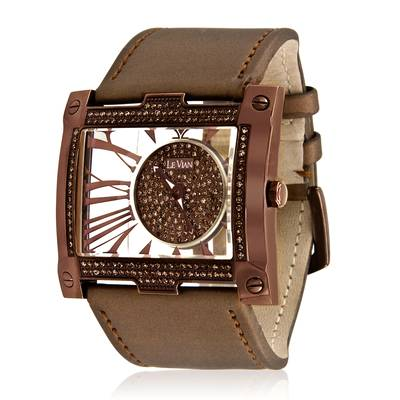 Stainless Steel Watch with Chocolate Diamonds® 1  1/8 cts. | ZAG 153