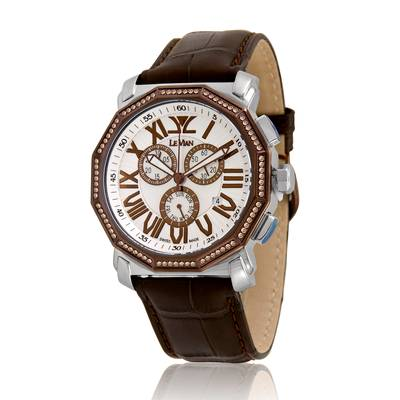 Stainless Steel Watch with Chocolate Diamonds® 3/4 cts. | ZAG 188