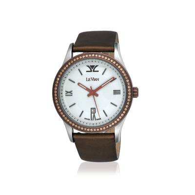 Stainless Steel Watch with Chocolate Diamonds® 1  1/5 cts. | ZAG 189