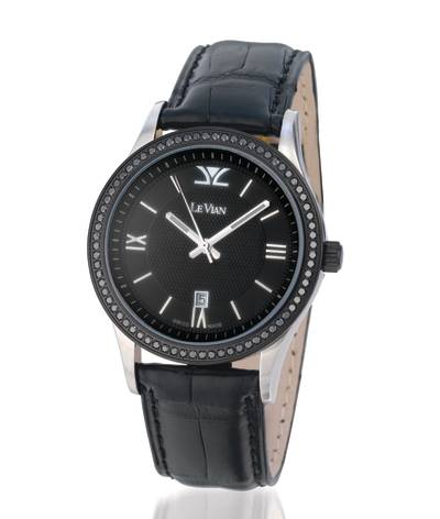 Stainless Steel Watch with Blackberry Diamonds® 1  1/5 cts. | ZAG 190