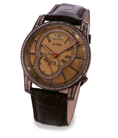Stainless Steel Watch with Chocolate Diamonds® 1  1/2 cts. | ZAG 210