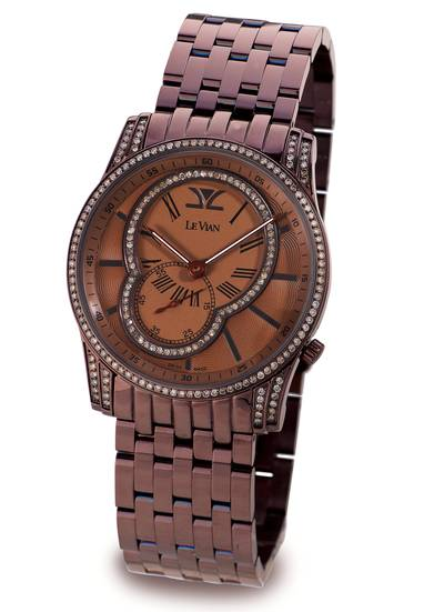 Stainless Steel Watch with Chocolate Diamonds® 1  3/8 cts. | ZAG 211