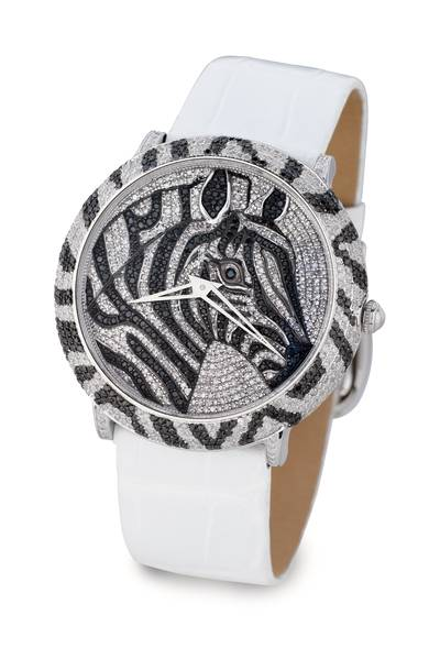 Stainless Steel Watch with Blackberry Diamonds® 2  1/5 cts., Vanilla Diamonds® 3  1/5 cts. | ZAG 222