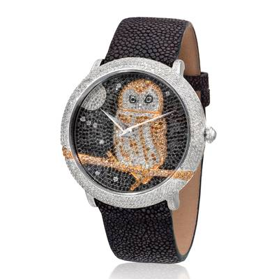 Stainless Steel Watch with Vanilla Diamonds® 3  3/4 cts., Chocolate Diamonds® 1  1/5 cts., Black Diamonds 1  3/4 cts. | ZAG 266A
