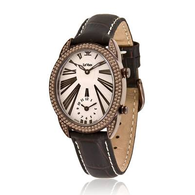 Stainless Steel Watch with Chocolate Diamonds® 2  1/3 cts. | ZAG 79A