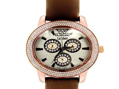 Stainless Steel Watch with Chocolate Diamonds® 2  3/8 cts. | ZAG 82