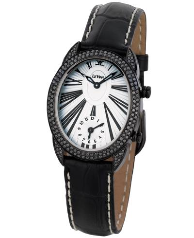 Stainless Steel Watch with Black Diamonds 2  1/8 cts. | ZAG 87A