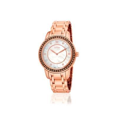 Stainless Steel Watch with Chocolate Diamonds® 1  1/4 cts., Vanilla Diamonds® 1/20 cts. | ZELA 42