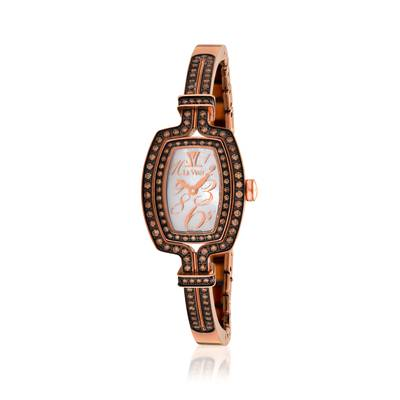 Stainless Steel Watch with Chocolate Diamonds® 1  1/4 cts. | ZELA 45