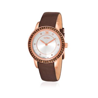 Stainless Steel Watch with Chocolate Diamonds® 1  1/4 cts., Vanilla Diamonds® 1/20 cts. | ZELA 50