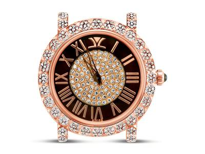 Stainless Steel Watch with Chocolate Diamonds® 2  1/2 cts. | ZLPB 16