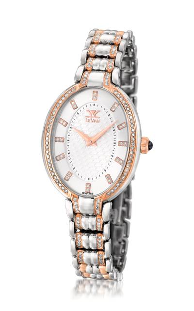 Stainless Steel Watch with Chocolate Diamonds® 1  1/8 cts. | ZLPB 3