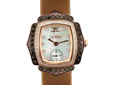Stainless Steel Chocolate Quartz®  cts. Watch with Vanilla Diamonds® 3/8 cts. | ZRPA 103