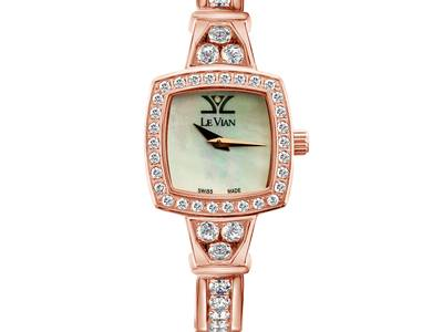 Stainless Steel Vanilla Topaz™  cts. Watch with Vanilla Diamonds® 1  1/2 cts. | ZRPA 160