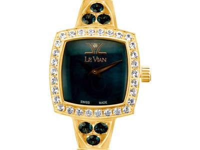 Stainless Steel Blue Topaz  cts., Vanilla Topaz™  cts. Watch with Vanilla Diamonds®  cts. | ZRPA 161