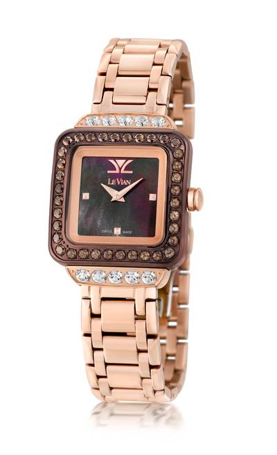 Stainless Steel Vanilla Topaz™ 2 cts., Chocolate Quartz® 2 cts. Watch | ZRPA 56