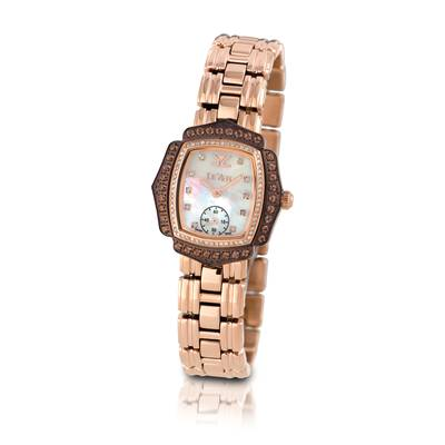 Stainless Steel Chocolate Quartz® 1 cts. Watch with Vanilla Diamonds® 3/8 cts. | ZRPA 59