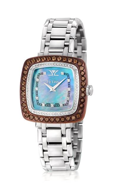 Stainless Steel Chocolate Quartz®  cts. Watch with Vanilla Diamonds® 5/8 cts. | ZRPA 61