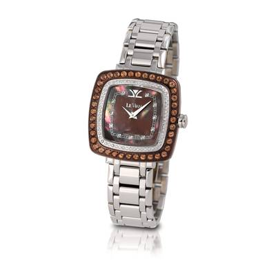 Stainless Steel Chocolate Quartz®  cts. Watch with Vanilla Diamonds® 5/8 cts. | ZRPA 63