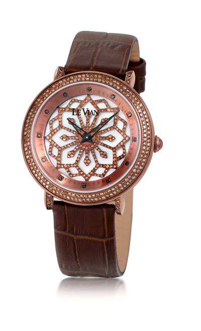 Stainless Steel Watch with Chocolate Diamonds® 1  7/8 cts., Black Diamonds 1/10 cts. | ZRPA 82A